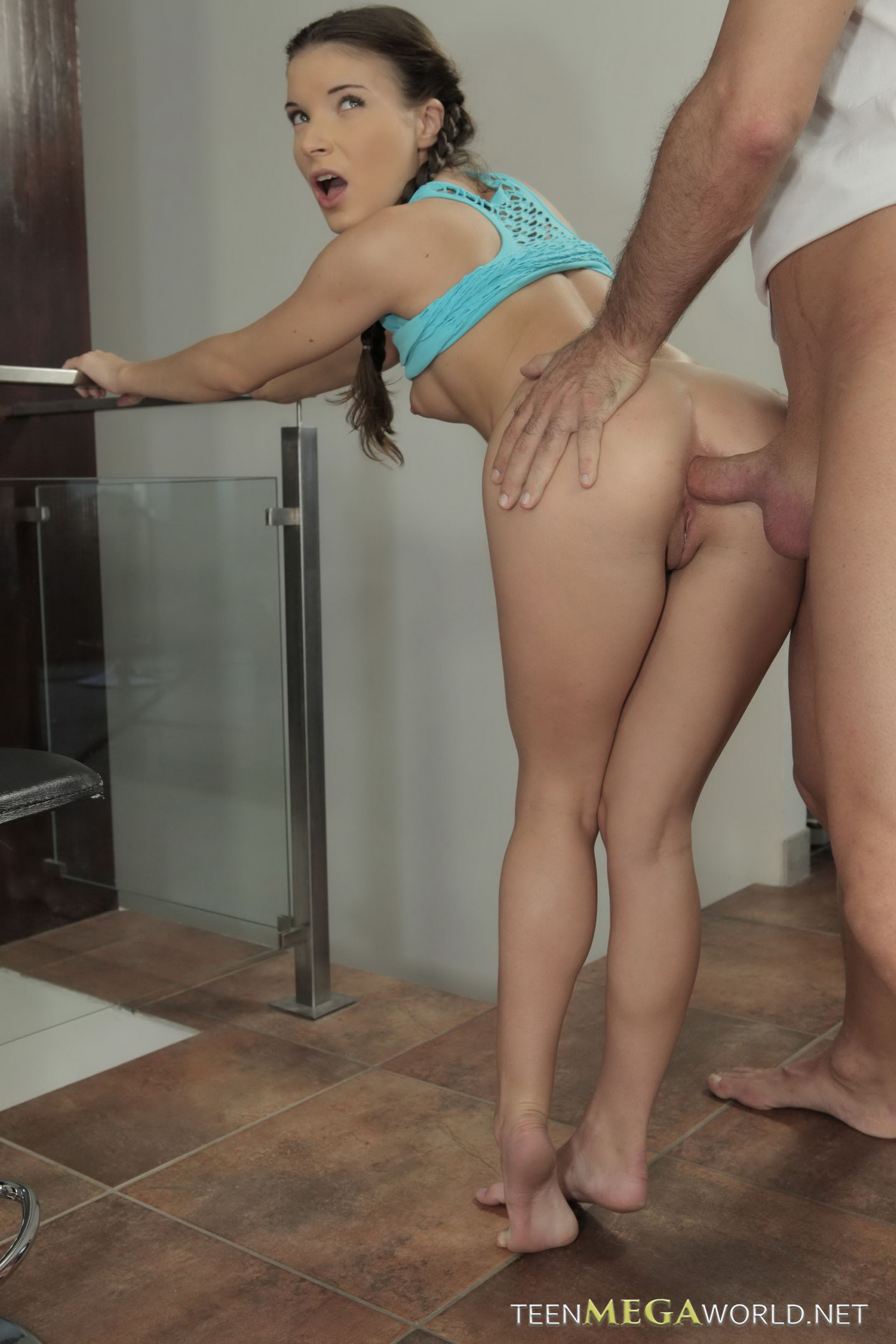 Fantastic tight cutie gets her wet vagina and small anal shag